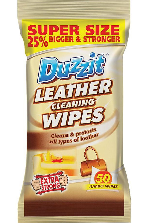 Extra strong jumbo leather wipes