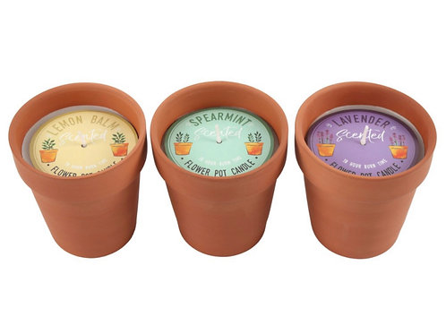 Fragranced flower pot candle