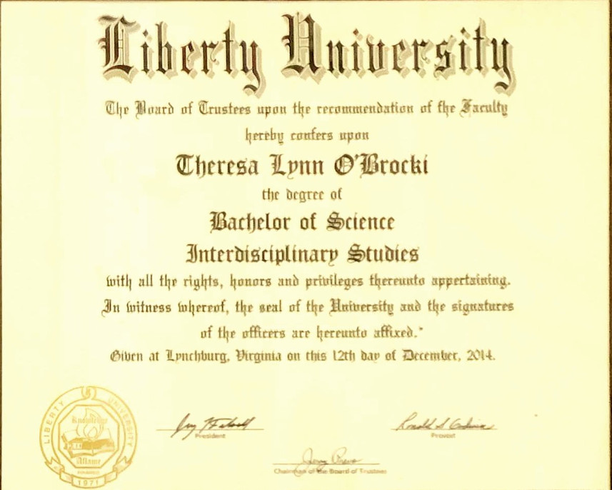 Liberty University Bachelor of Science Interdisciplinary Studies