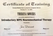 Certificate of Training- Introductory mPS Neuromechanical Therapy (16 hours CEUs)