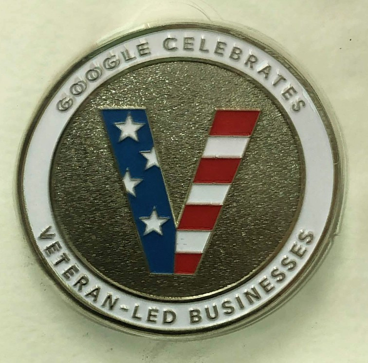 Veteran-Led Business Celebratory Coin from Google