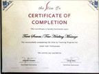 Laser Lipo Technicians Certificate of Completion