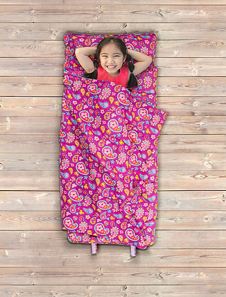 Nap Mat with Attached Blanket