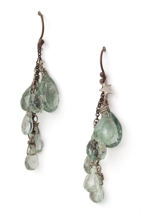 Aquamarine Water Drops Earrings