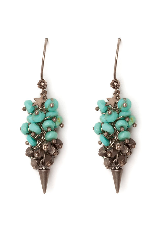 Turquoise to the point Earrings