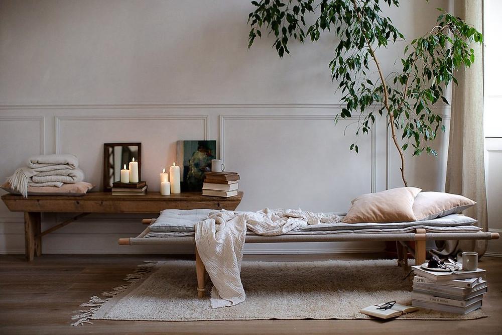 textures, layers, cozy design, natural materials