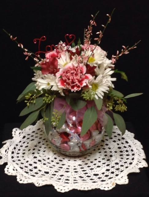 Candy & Floral Arrangement