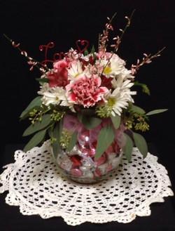 Candy & Floral Arrangement
