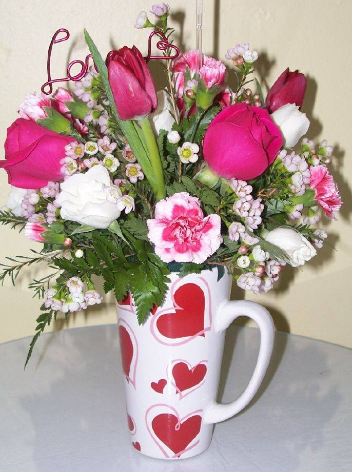 Sending Love Mug Arrangement