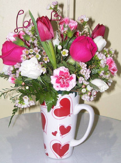 Sending Love Mug Arrangement