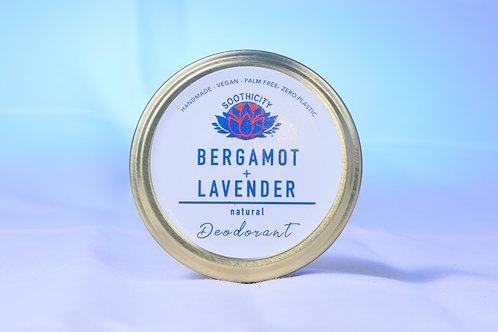 Natural Deodorant(Bicarb Free) BERGAMOT & LAVENDER 45g