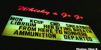 KCUF at the Whiskey a Go go.