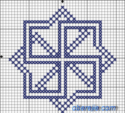 Схема вышивки Молвинец