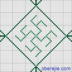 Схема вышивки Целебник + папоротник