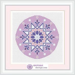 Мандала, оберег, гармонизация пространства, схема вышивки крестом