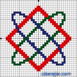 Схема вышивки Звезда Богородицы