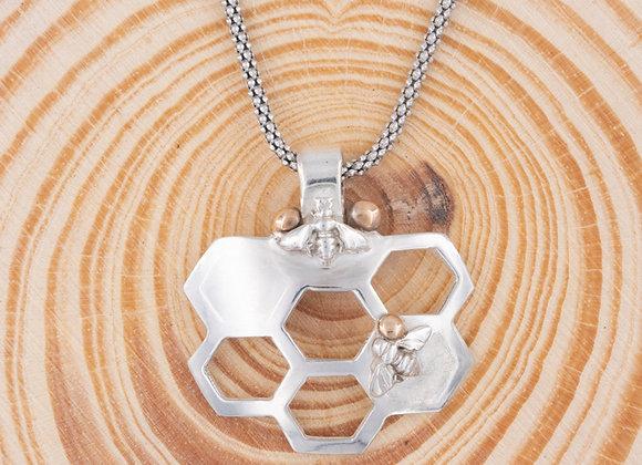 Bee Love Honeycomb Necklace