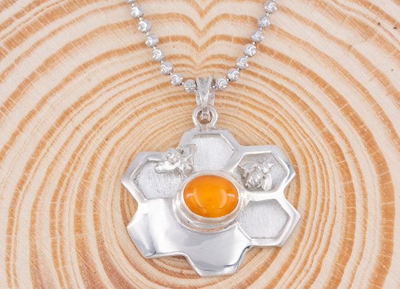 Bee Love Sparkle Hive Necklace
