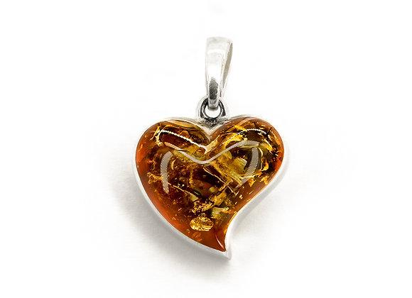 Honey Amber Small Heart pendant