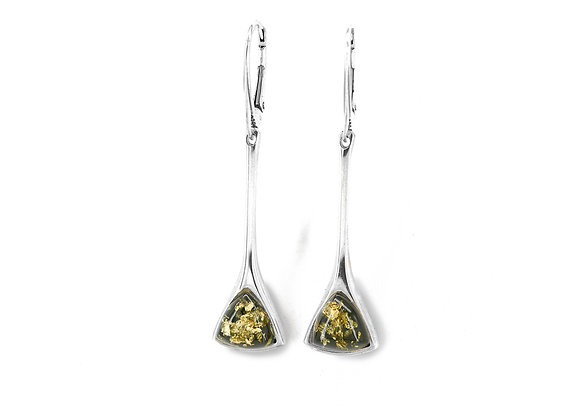Green Amber Triangle Drops