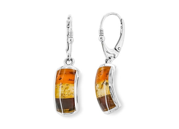 Tri-Color Arch Earrings