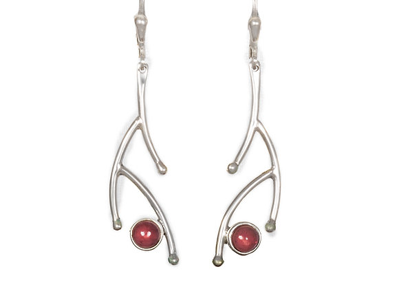 Branch Garnet Earrings