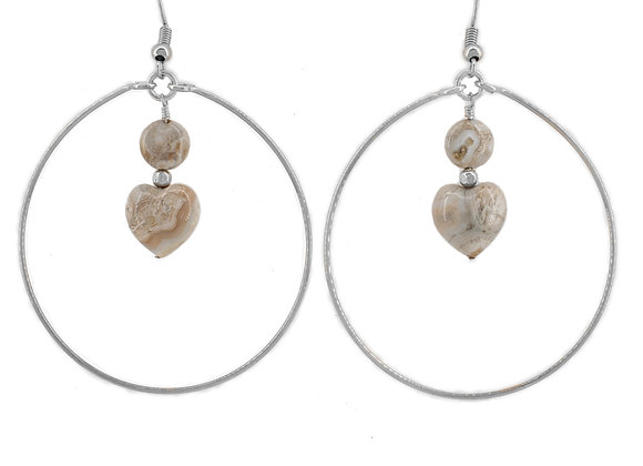 Hoop Ocean Jasper Earrings