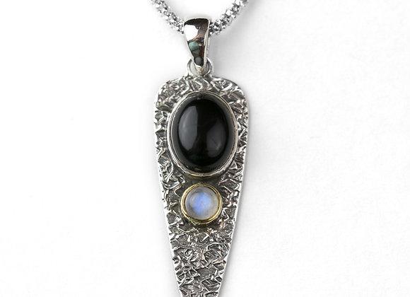 Onyx Moon Stone Double Drop