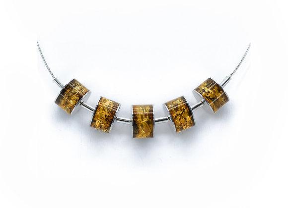 Light Honey Amber Multi Drumette Necklace