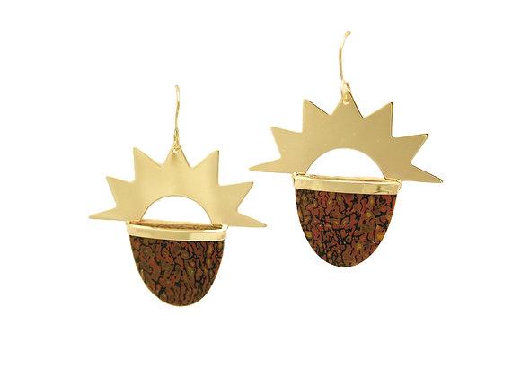 MB Gold Sunburst Earrings
