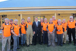 Tony Abbott's visit to our Shed