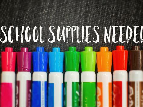 Mrs. Suzie's School Supply List & Tips