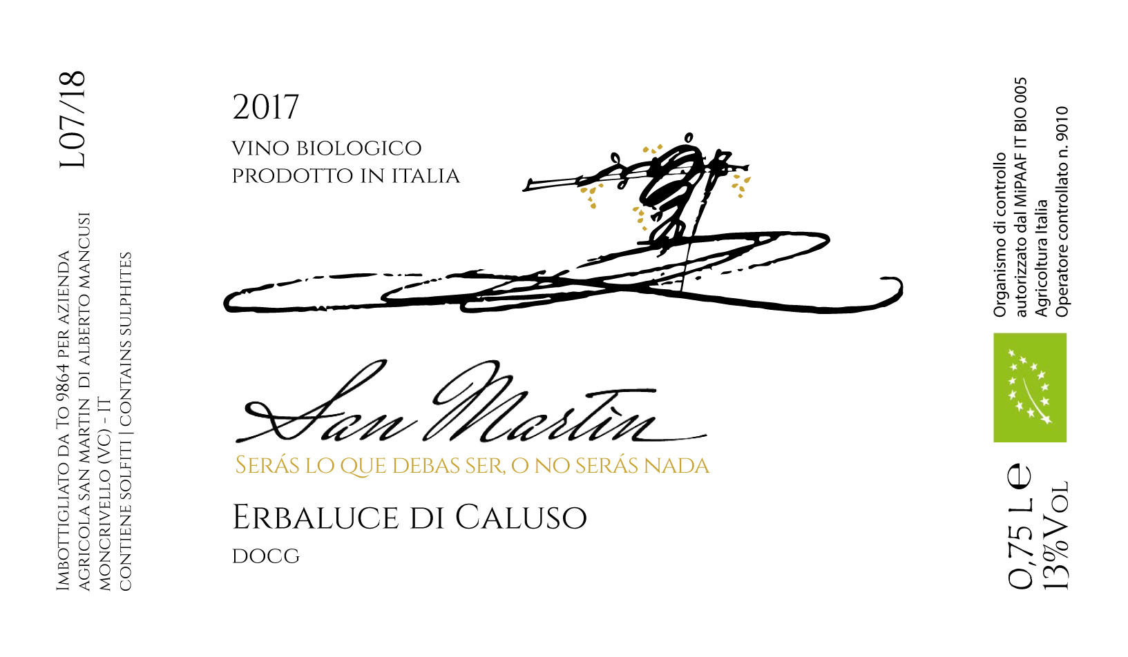 San Martin - Erbaluce di Caluso 2017 - w