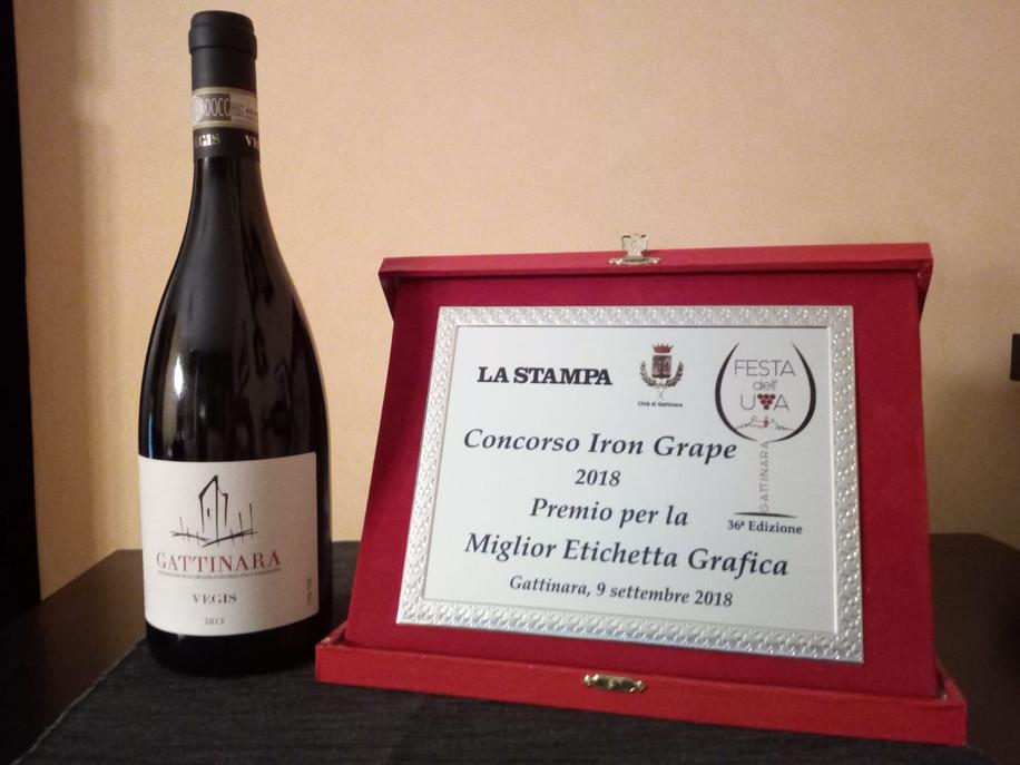 Premio La Stampa Etichetta vino Gattinara di Vegis Stefano