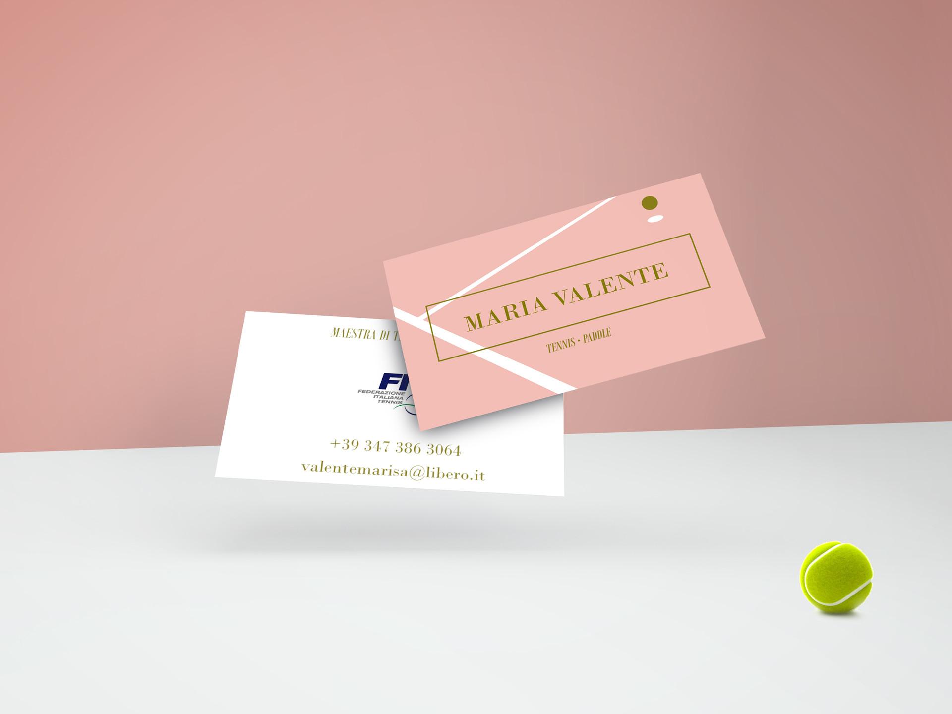 Business card Tennis coach | ARtelier Progetti