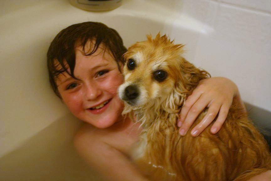 Isaac and Dexter in Tub.jpg
