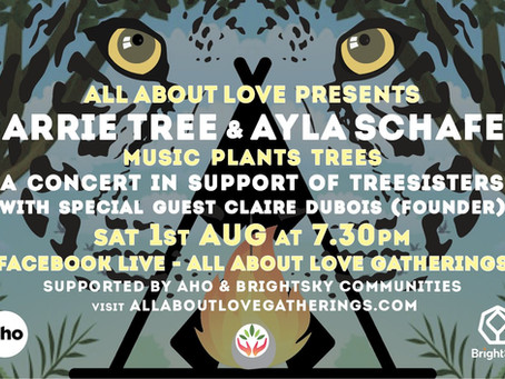 'Music plants Trees' live online Concert with Ayla Schafer & Carrie Tree