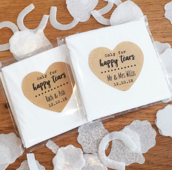 personalized tissues, wedding day survival kit, needed for the wedding day, happy tears, forgotten items on wedding day