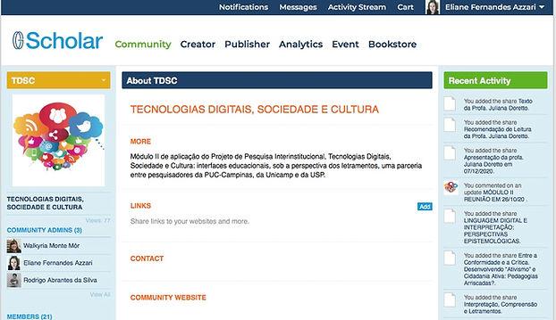 O projeto tem parceria com a plataforma CGScholar