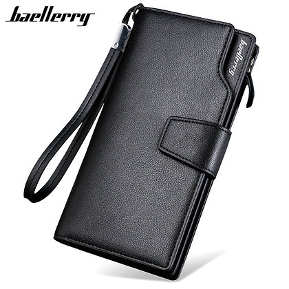 Baellerry Luxury Brand Men's Wallets Men Long Purse Wallet