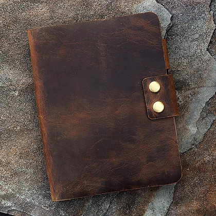 Vintage Retro A5 Leather Ring Binder Notebook CoverLeather Refillable Sketchbook