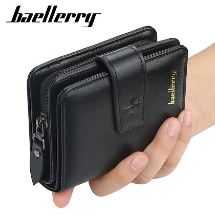 Baellerry Multifunction Wallet Men Leather Men Wallets Purse