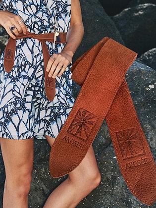 Leather Tie Belt