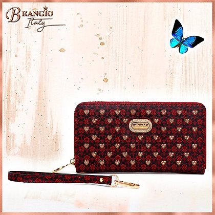 Diamond Bling Handmade Wristlet Wallet With Multiple Card Pockets