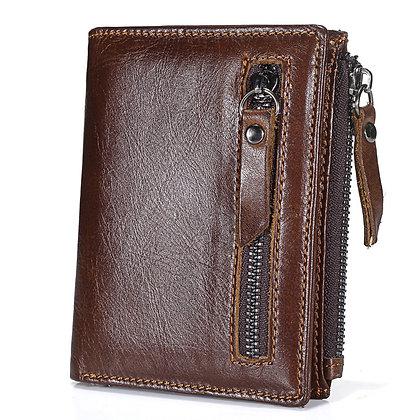 zipper men luxury vintage leather purse