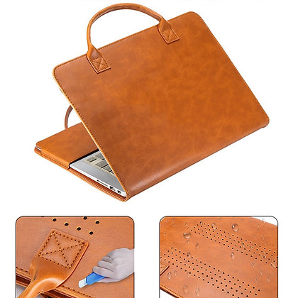 Laptop Case for MacBook Pro Air 15.4 13.3 13 12 11 Laptop Bag PU Leather Sleeve