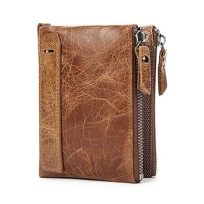 Hot Sale Genuine Leather Men Wallets Short Credit Business Card Holders
