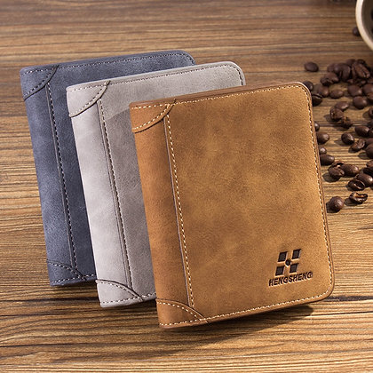 Men's Leather Wallet Credit Card Holder Clutch Coin Purse
