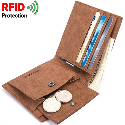 2020 Fashion Rfid Men's Wallet Mens Wallet With Coin Bag Zipper