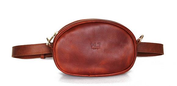 Leather Brown Belt Bag